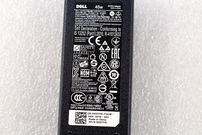 Amazon.com: Original OEM Dell LA45NM140 KXTTW 19.5V 2.31A Notebook Ac Adapter: Computers & Accessories