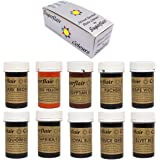 Sugarflair Concentrated Food Colours - Mixed Set of 10 SPECTRAL Pastes Prepacked