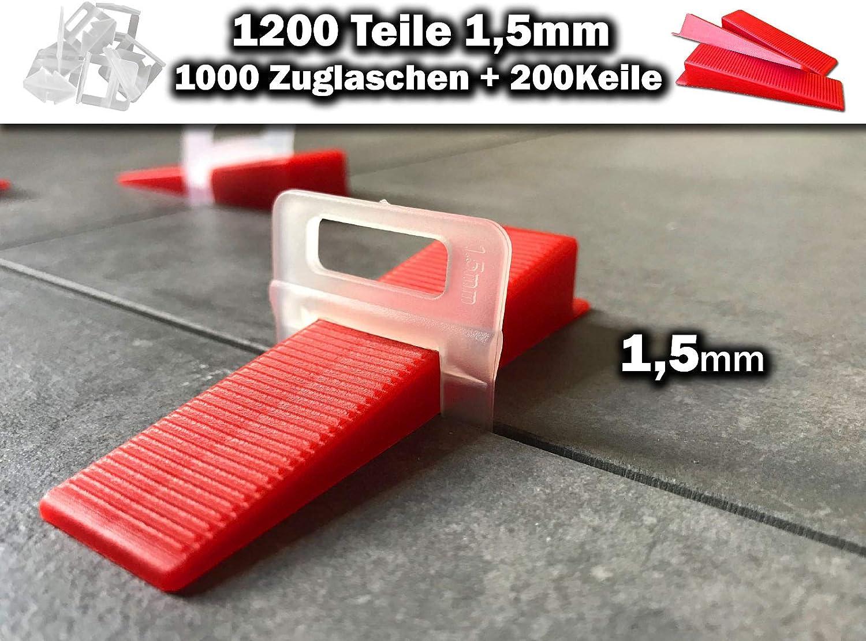 500 Laschen 100 Keile 3mm Das G/ÜNSTIGE Fliesen Nivelliersystem Zange Keile Zuglaschen einzeln oder im Set 1mm 1,5mm 2mm 2,5mm 3mm Mega-Auswahl an Variationen 500 Laschen 100 Keile, 3,0mm