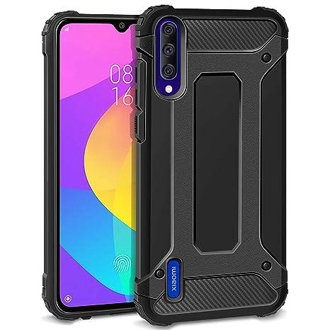 AROYI Funda para Xiaomi Mi A3, Robusta Carcasa Híbrida TPU PC de Doble Capa Anti-arañazos Caso para Xiaomi Mi A3 Negro