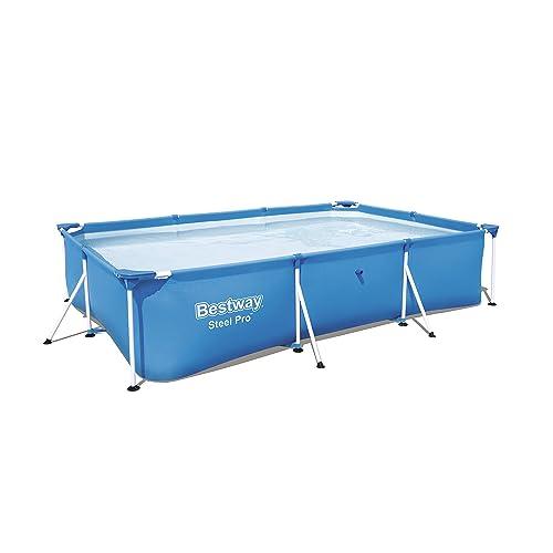Bestway 56404 - Detachable Steel Pro Splash Frame rectangular pool with steel frame, 300 x 201 x 66 cm, 3,300 liters, blue
