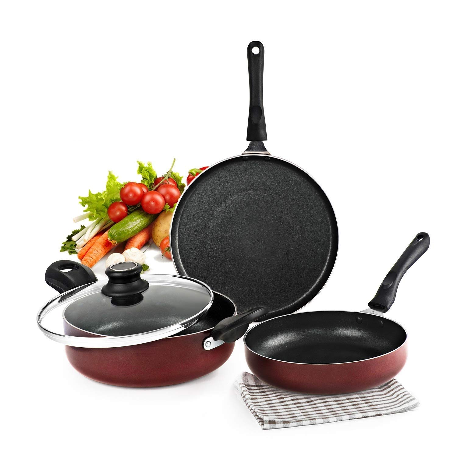 Cello Prima Induction Base Non-Stick Aluminium Cookware Set