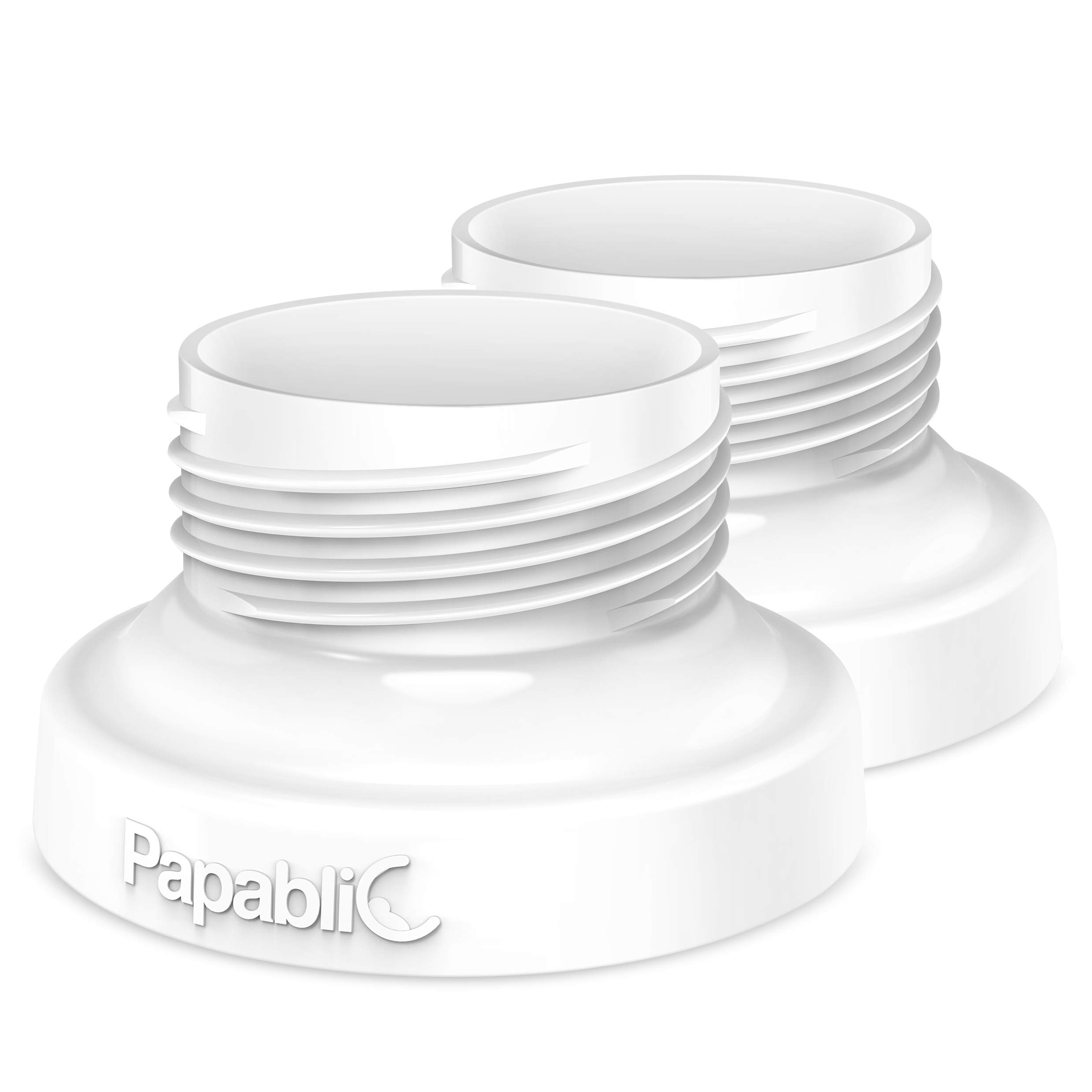 Papablic Direct Pump Bottle Adapter, for Spectra S1 S2, Avent Breast Pumps to Use with Comotomo Baby Bottles, 2 Pack by Papablic