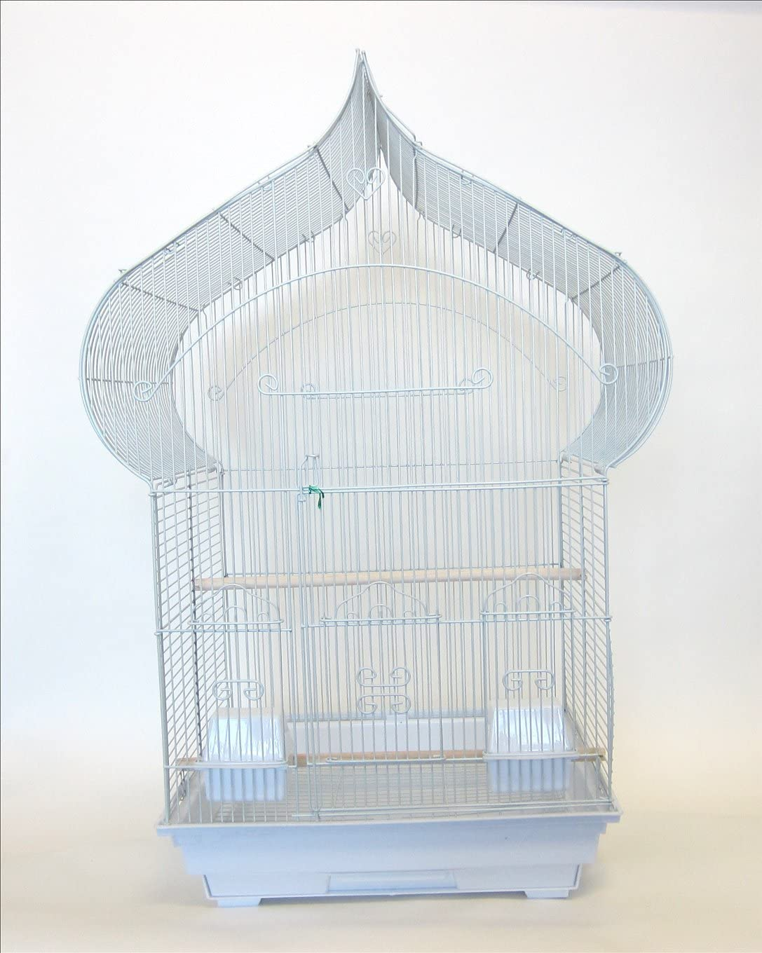 YML 3 8-Inch Bar Spacing Taj Mahal Bird Cage 18-Inch by 14-Inch,White