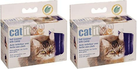 Amazon Com Catit Self Groomer With Catnip Set Of 2 Pet Supplies