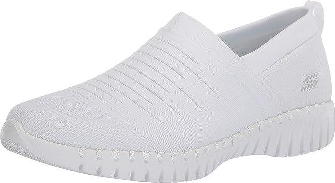 Skechers Women's GO Walk Smart Wise Sneaker, White, 6.5