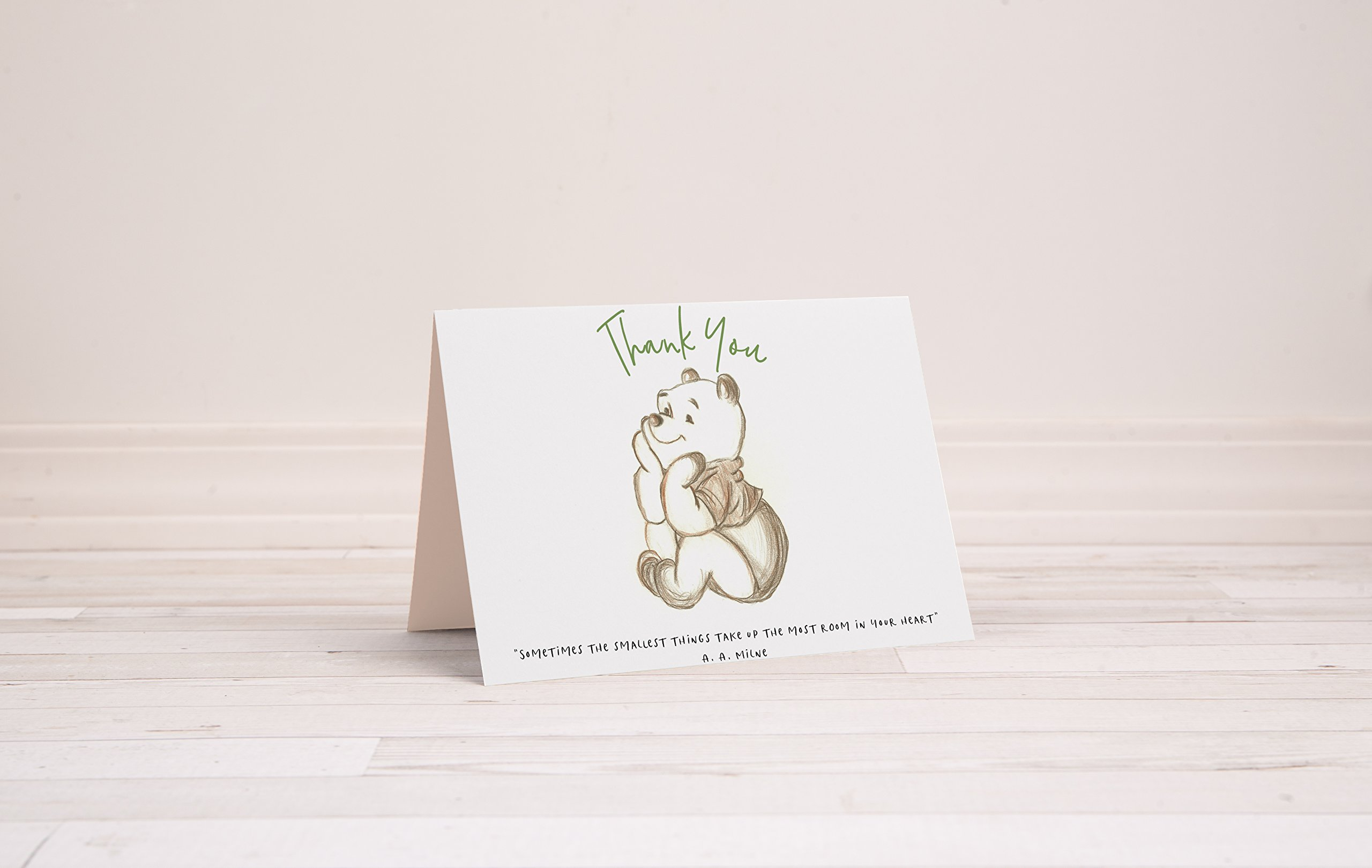 Winnie The Pooh Thank You Notes, 5.5 Inches by 4 Inches, Envelopes Included