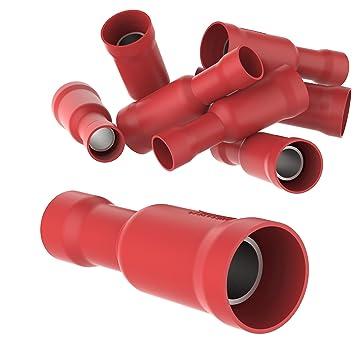 25 Stück Flachstecker rot für T-Abzweigverbinder rot 0,5-1,5 mm² Stecker