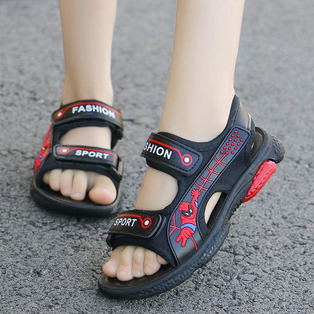 ANKIDS Summer Fashion Kids Spiderman Soft Bottom Sandals Beach Shoes Boys