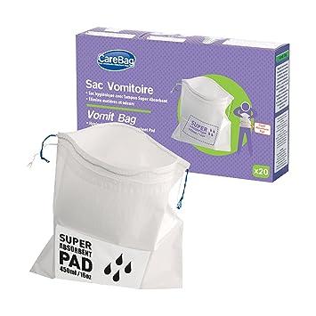 Cleanis care bag - Bolsa para vómito (25 x 25 cm, 20 unidades): Amazon.es: Salud y cuidado personal
