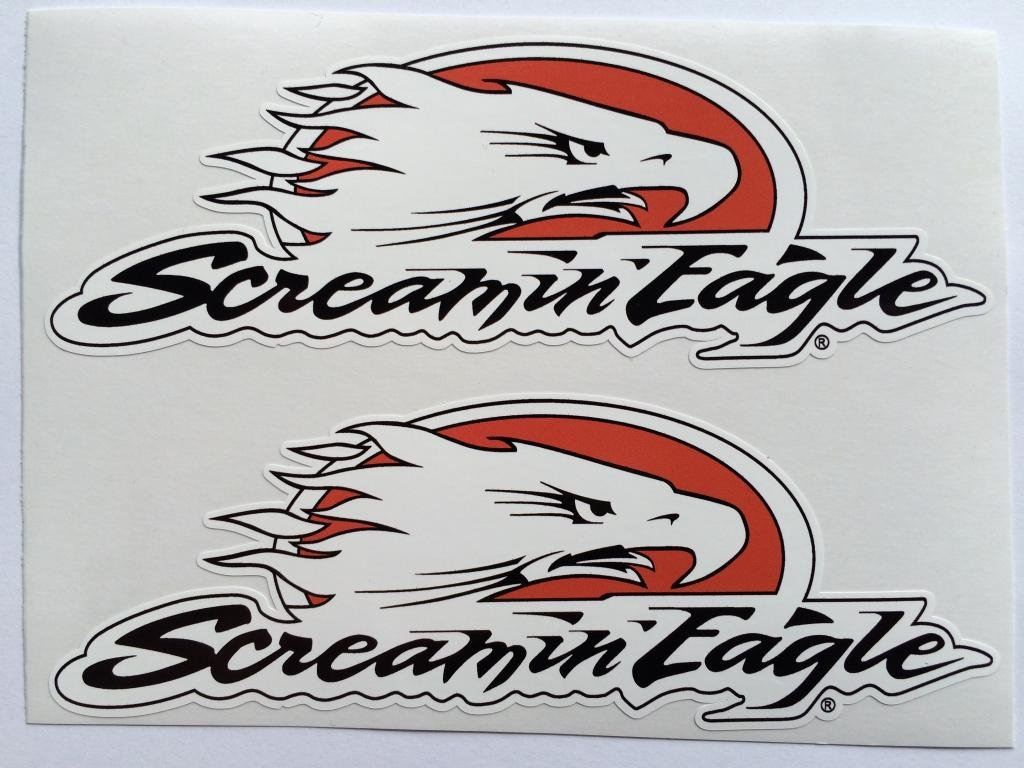 2 Harley Davidson Screamin Eagle Die Cut Decals SBD Decals