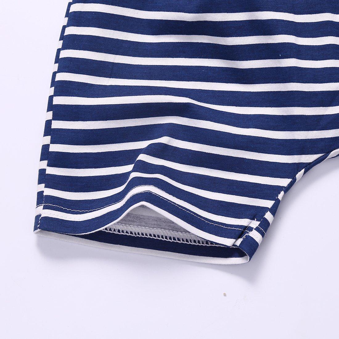 Dailybella Baby Boys Short Sleeve T-Shirts Shorts Set 2 Piece Cute Animal Summer Outfits Clothing