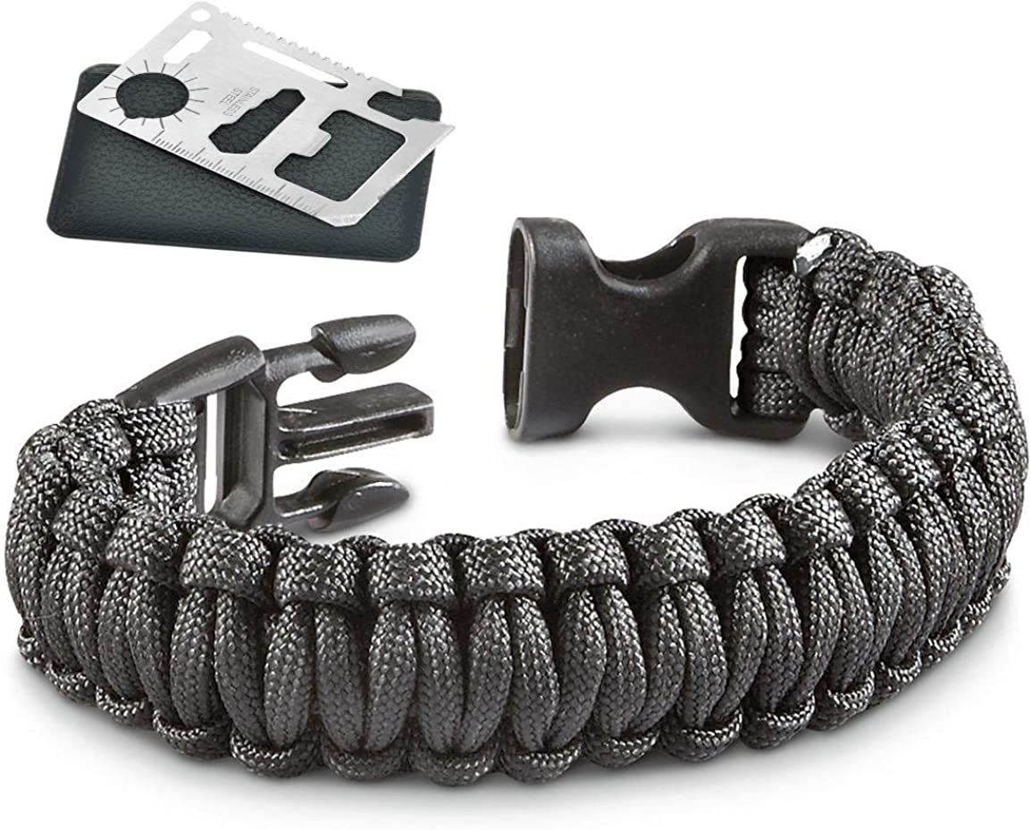 Veteran Blends CBD Military Style Paracord Bracelet with 11 in 1 Credit Card Survival Tool