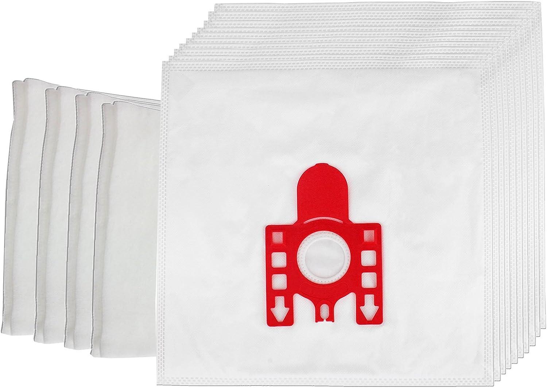 Spares2go bolsas de polvo para Miele FJM S241 S200 (256I S290 S299 Series aspiradoras (unidades 10 + 4 Filtros): Amazon.es: Hogar