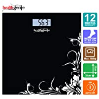 Healthgenie HD-221 Digital Weighing Scale (Black)