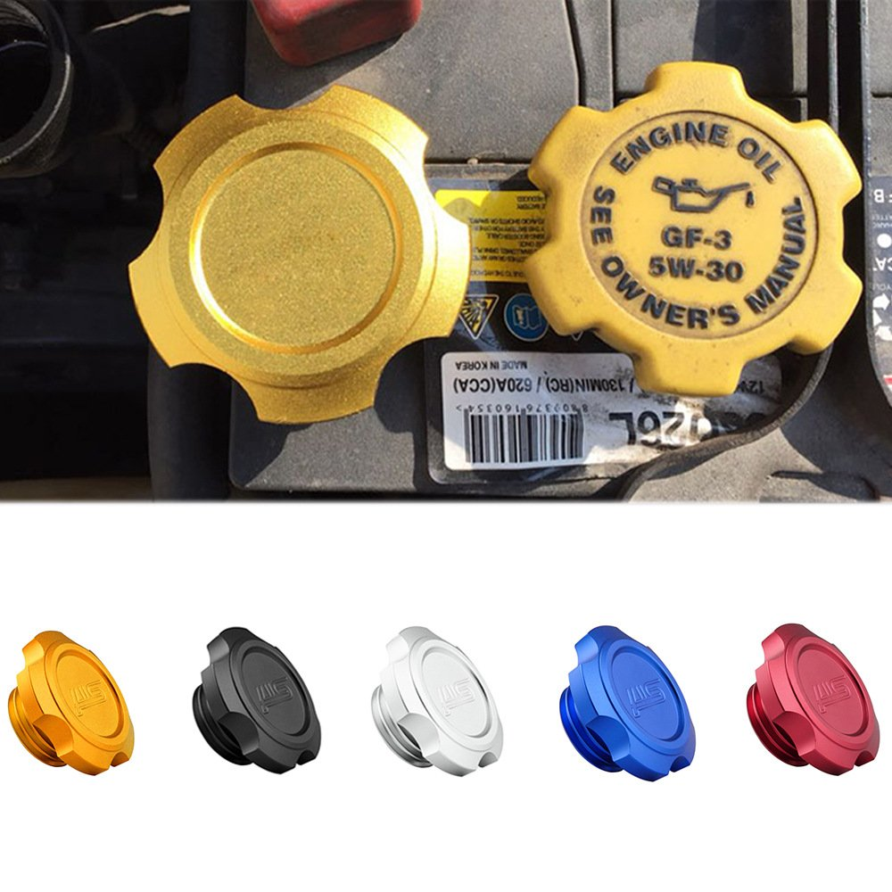 BEESCLOVER Aluminum Oil Fuel Filler Cap for Subaru Oil Cap Car Refit Accessory red