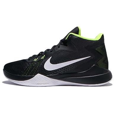 NIKE Men's Zoom Evidence Basketball Shoe, Black/White Volt, ...