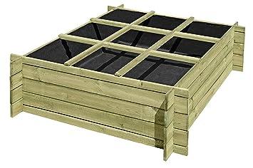 Gartenpirat Hochbeet 120x120 Aus Holz Kdi Mit Boden Und Pflanzfolie