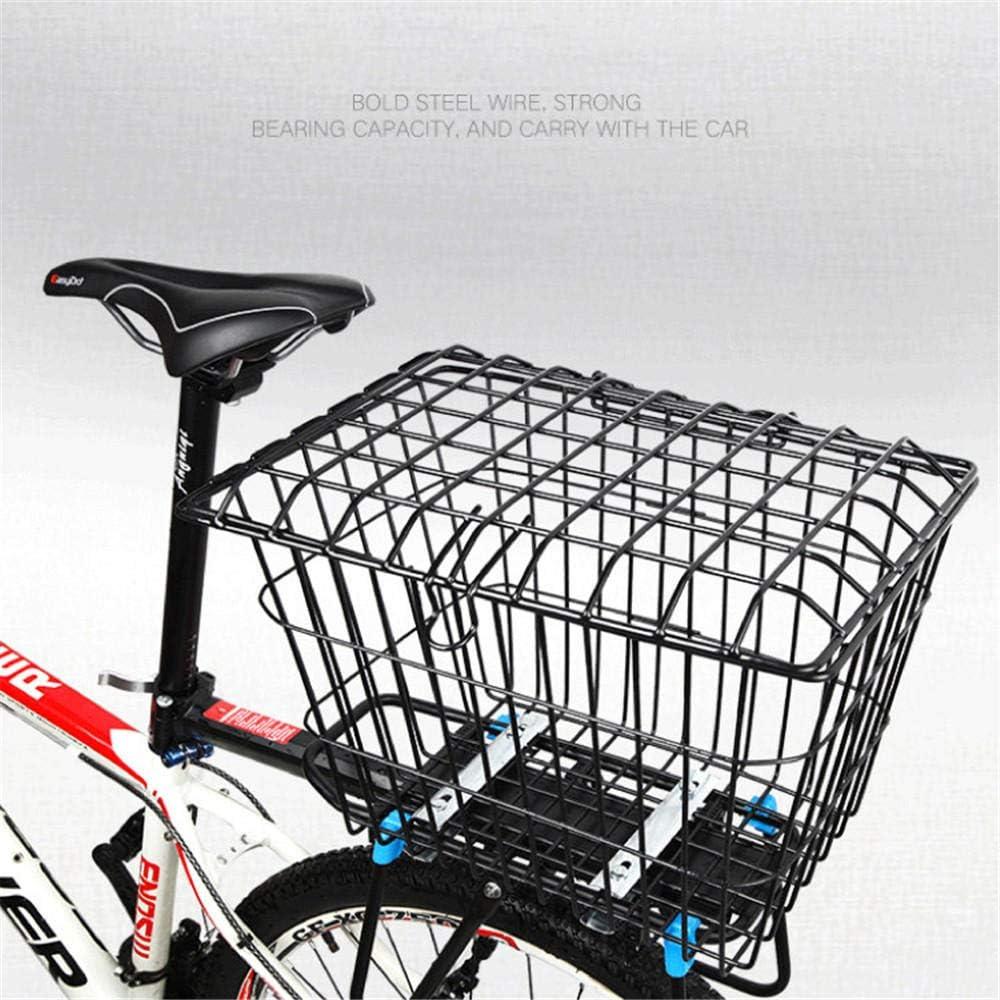 Bolsa Interior Yhmabc Cesta Trasera Para Bicicleta Bolsa Desmontable De Malla De Alambre Cesta Trasera Para Bicicleta Cesta Para Bicicleta Portaequipajes Para Montaña Tamaño Pequeño Bolsas Mochilas Y Alforjas Ciclismo
