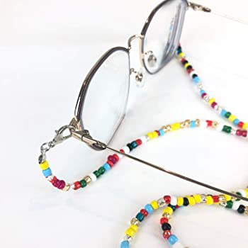 Mask lanyard,Beaded Mask Holder,Glasses mask Chain,Mask Accessory,28 Inches,Unisex,Non-Slip Anti-Lost mask Chain