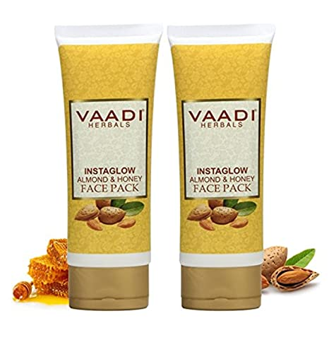 Vaadi Herbals Papaya Fairness Scrub Gel with Honey and Saffron, 110g x 2 CeraVe Skin Renewing Night Face Cream for Softer Skin, 1.7 oz.