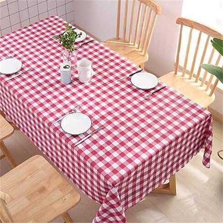 WENXIAOXU Paño De Tabla Paño De Algodón Limpio Rectangular Impermeable Manteleta para Jardín Cocina Interior Mesa De Comedor Mantel,Tela de PVC desechable a Cuadros B-3 140 * 220cm: Amazon.es: Hogar