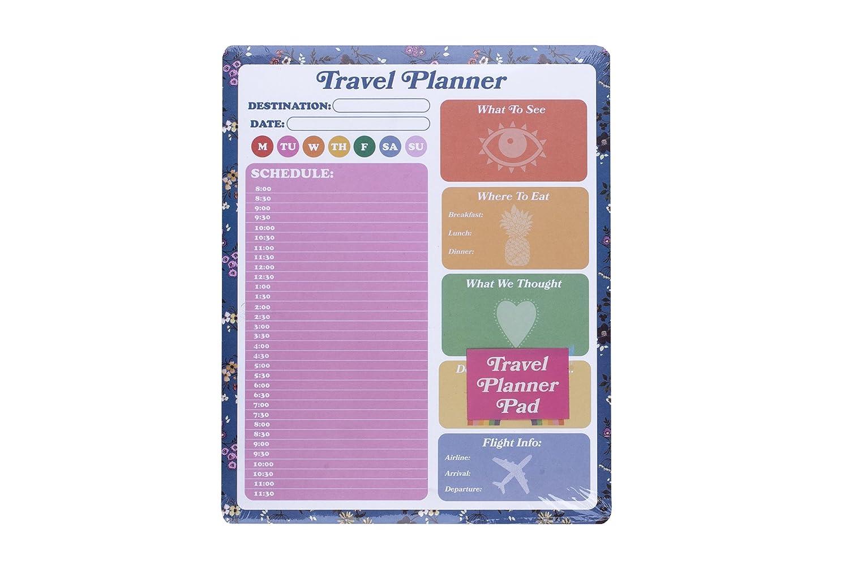 Tri-Coastal Planner da viaggio settimanale perpetuo da scrivania: agenda da tavolo senza data Tri-Coastal Design