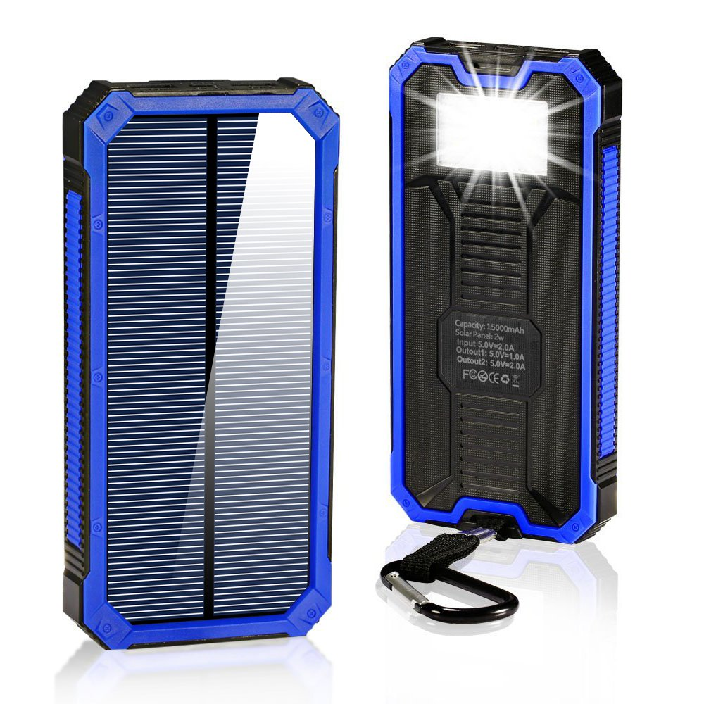 Amazoncom Solar Charger 15000mAhBESWILL Portable Dual USB