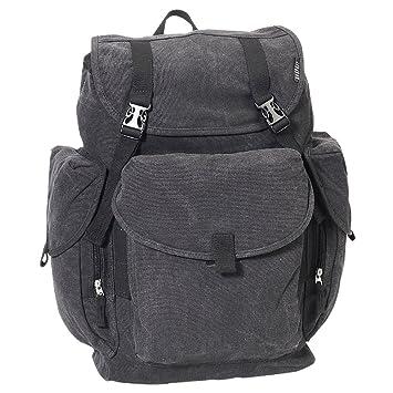 d250f0205 Amazon.com   Everest Luggage Canvas Backpack Black, Black, One Size    Backpacks