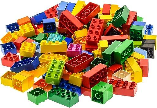 30x 8er 2x4 Farbe bunt gemischt 130 Teile LEGO DUPLO Bau Steine 100x 4er 2x2