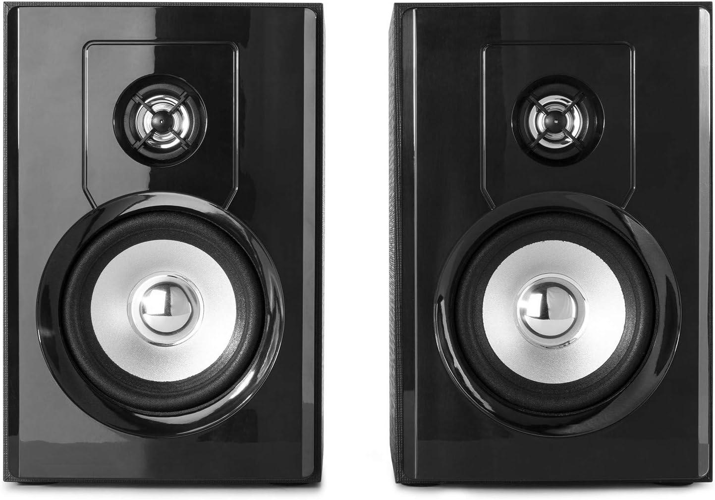 Haut-parleurs Actifs Paire denceintes de biblioth/èque avec Bluetooth Les Films et la Production Musicale id/éal pour la Musique Les Jeux 4 Fenton SHF404B 160 Watts USB et RCA