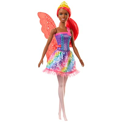 Barbie Dreamtopia Fairy Doll, 12-Inch, with Pink Hair and Wings, Gift for 3 to 7 Year Olds: Toys & Games