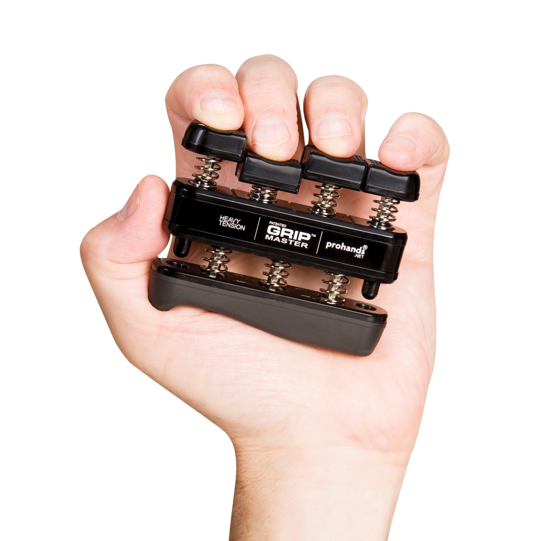 GRIP MASTER Gripmaster 14003-BLK Hand Exerciser Black, Heavy Tension (9-Pounds per Finger) by GRIP MASTER (Image #2)