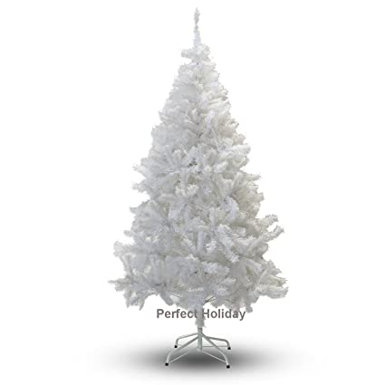 perfect holiday christmas tree 4 feet pvc crystal white - Amazon Artificial Christmas Trees