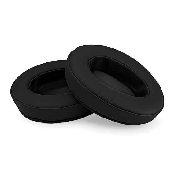 Brainwavz Oval Memory Foam Earpads - Suitable for Many Other Large Over The Ear Headphones - AKG, HifiMan, ATH, Philips, Fostex (Black) Headphone Accessories at amazon