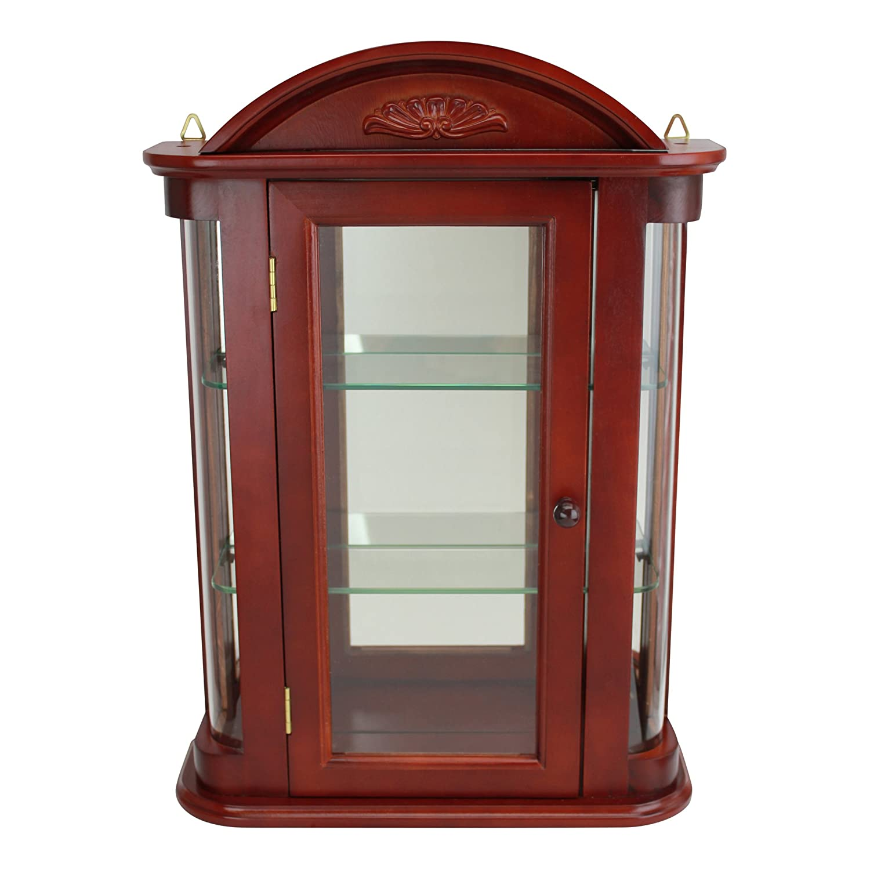 Curio Cabinets For Sale Black Curved Corner Curio Cabinet