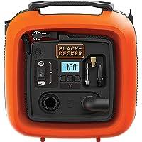 Black+Decker 12V 160 PSI Portable Electric Air Inflator Compressor for Bike, Cars, Inflatables and Sports Balls, Orange…