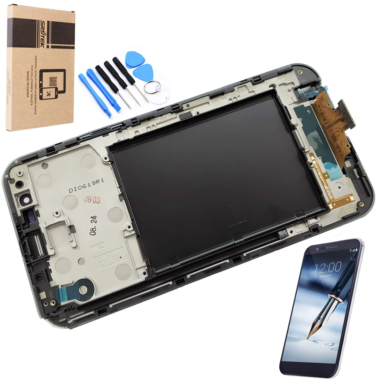 Screen Replacement Parts for LG Stylo 3 Plus MP450 TP450 M470F M470,Screen Replacement Parts Include LCD Display Screen and Touch Screen Digitizer(Black)