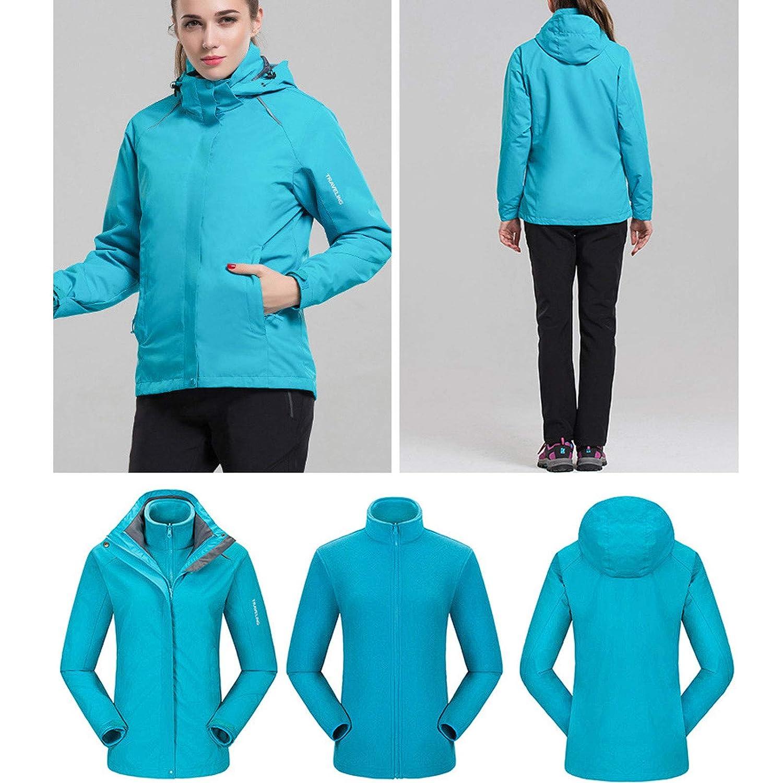 Flygo Womens Outdoor 3 in 1 Windproof Waterproof Jacket
