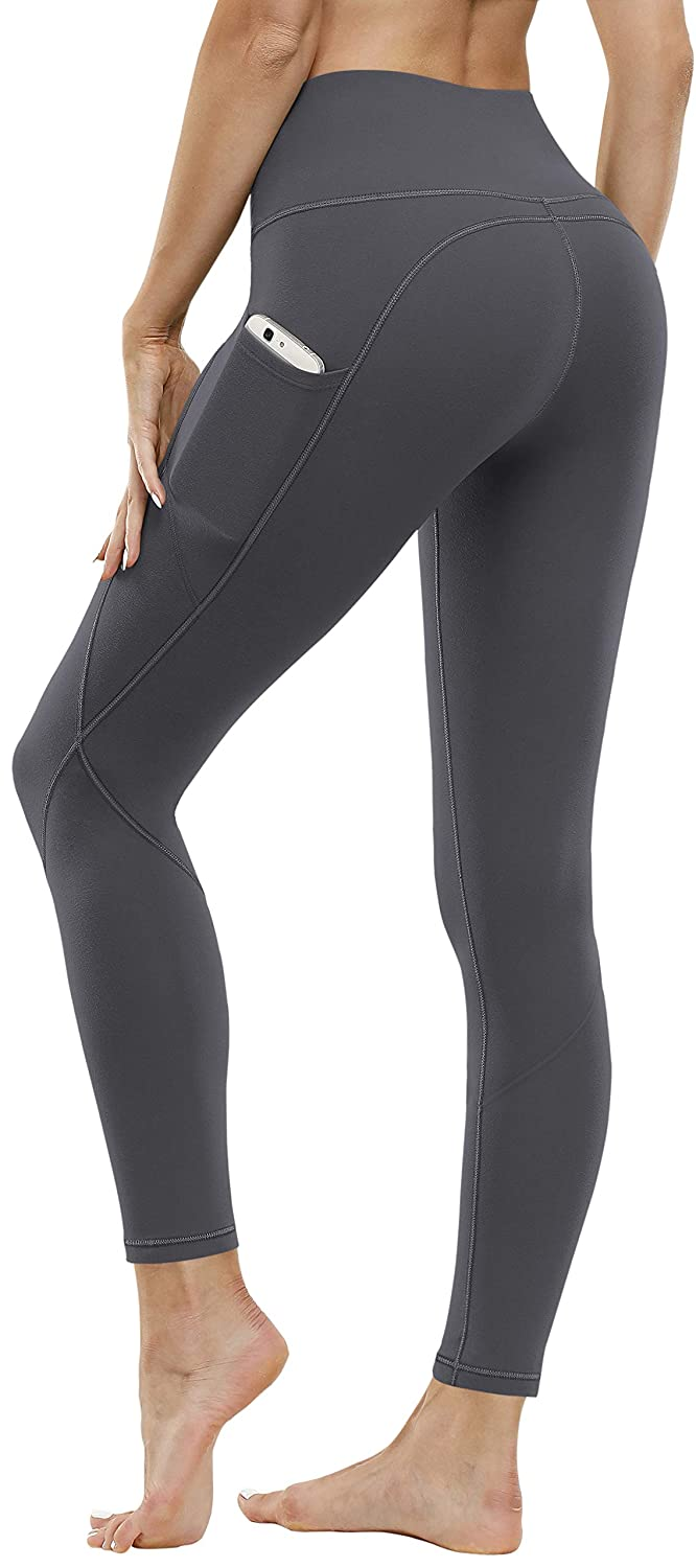 FUNANI High Waist Yoga Pants with Pockets, Tummy Control Yoga Pants for Women, 4 Ways Stretch Workout Leggings with Pockets