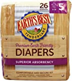 EARTHS BEST Diapers Size 5, 26 CT