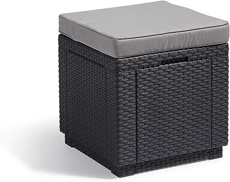 Keter Daytona Sdraio graffite con cuscino grigio /& Allibert Contenitore di Raffreddamento con Cubi di Ghiaccio 218759 Grafite