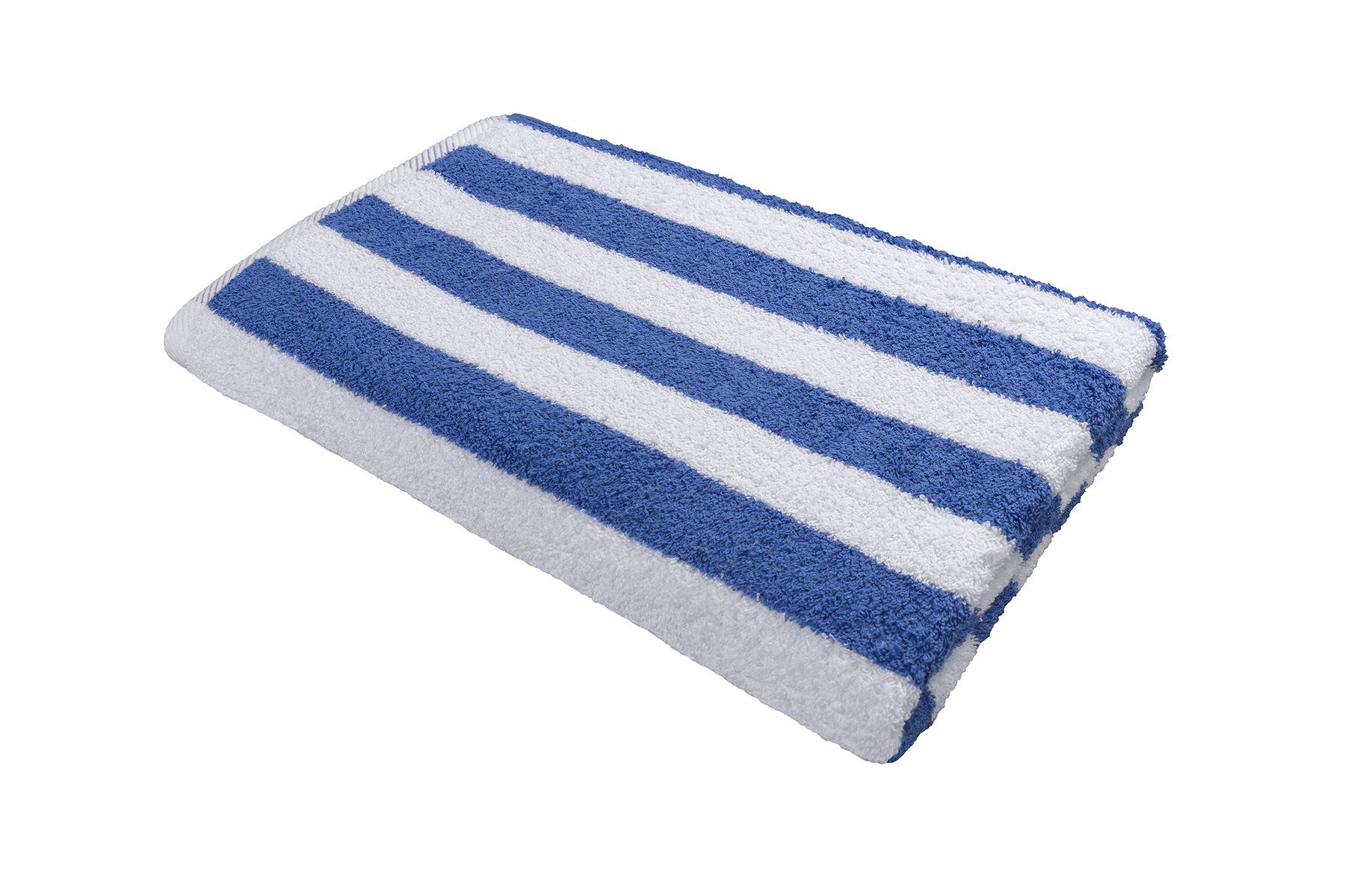 Splash Pool Towel - Hotel & Resort Extra Large Pool Towels for Pool, Beach, Spa, Gym - Blue Cabana Stripes - 100% Premium XL Cotton Towel (35''x 70'', Blue Cabana Stripe)