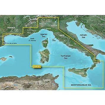 Map Of West Coast Of France.Amazon Com Garmin Bluechart G2 Hxeu012r Italy West Coast Micro