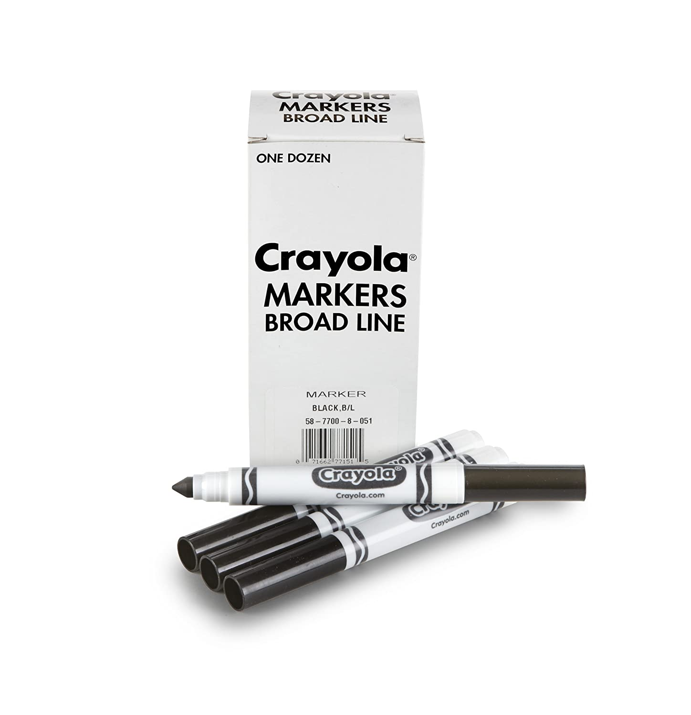amazoncom crayola 12 count black original bulk markers toys games
