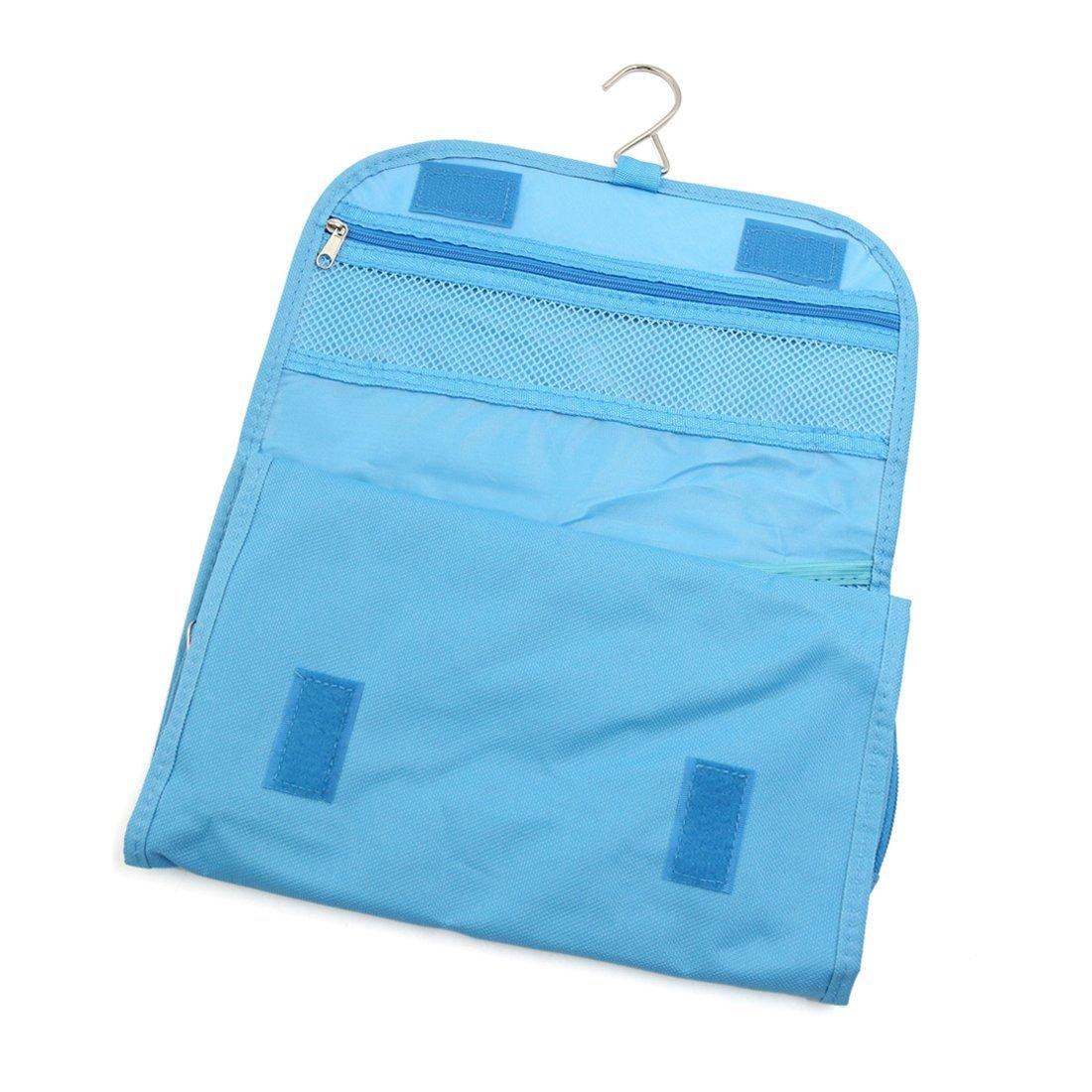 Amazon.com: eDealMax baño Colgar Organizador 7 bolsillos Cosmética Wash Neceser de almacenamiento Bolsa de Mano Azul Viajes: Health & Personal Care