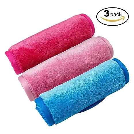 Desmaquillantes Paño, Toalla Limpiadora de Tela Paquete de 3 Paños de Limpieza de Microfibra Premium