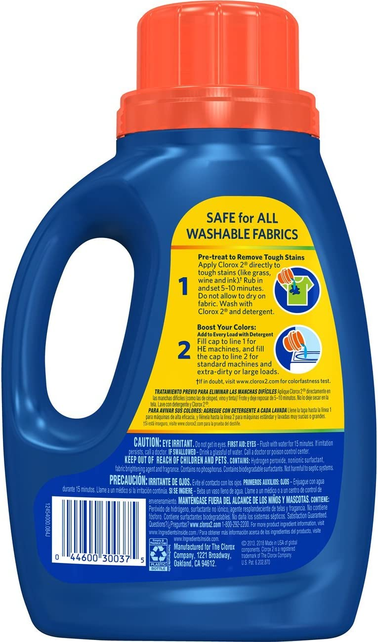 Clorox 2 Laundry Stain Remover and Color Booster, Original, 33 Ounces