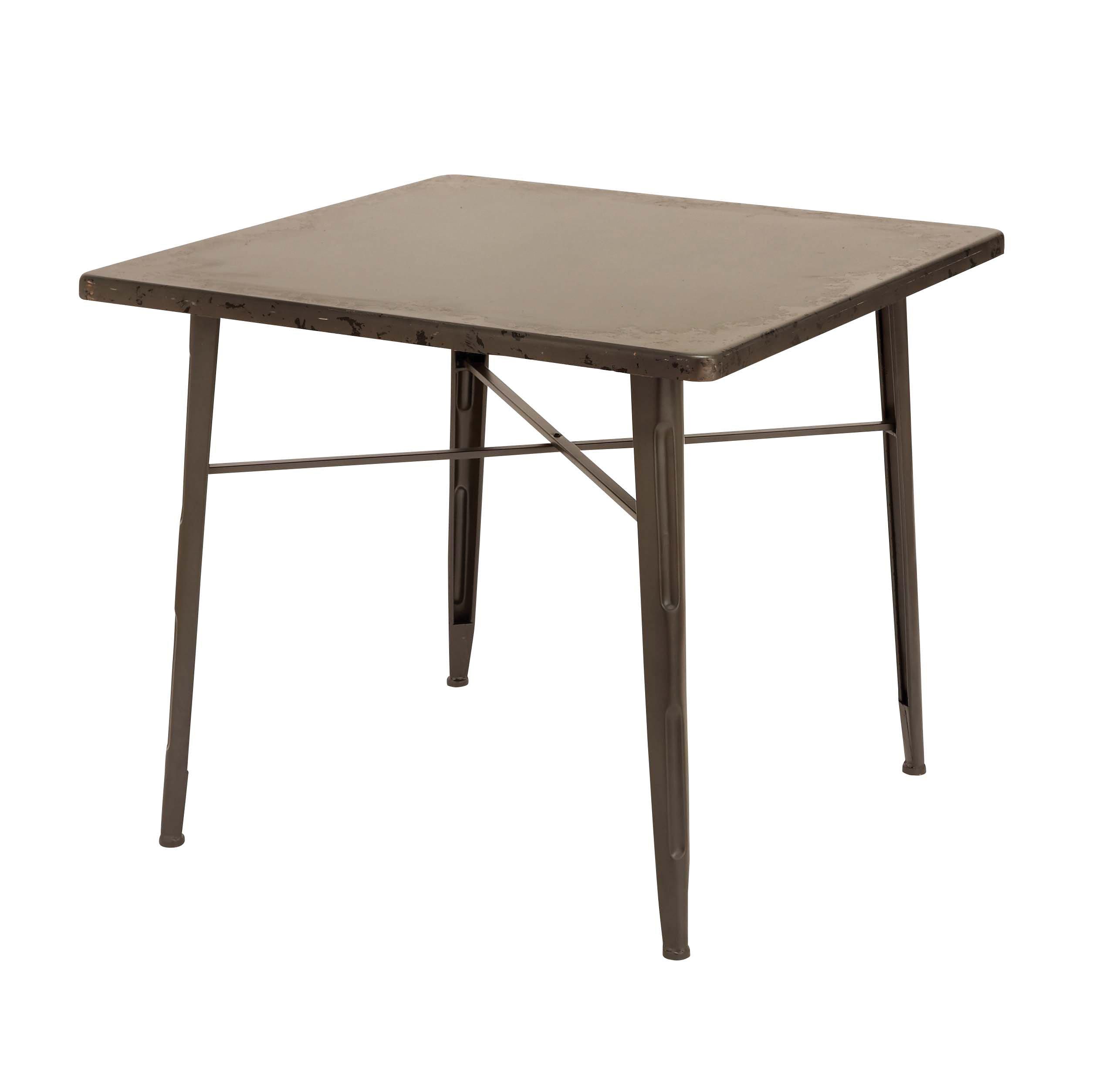 Plutus Brands Wood Table with Elegant Design, Dark Brown