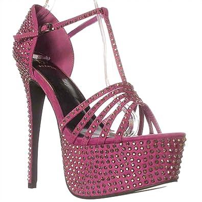 Scene Lornia Platform Sandals Magenta Purple Size 100